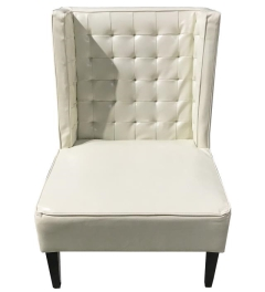 Rental store for LOUNGE, CHAIR OFF WHITE LEATHER LAUREN in Houston TX