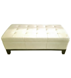 Rental store for LOUNGE, OTTOMAN OFF WHITE LEATHER LAUREN in Houston TX