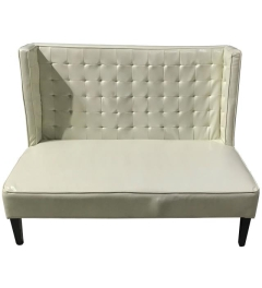 Rental store for LOUNGE, SETTEE OFF WHITE LEATHER LAUREN in Houston TX