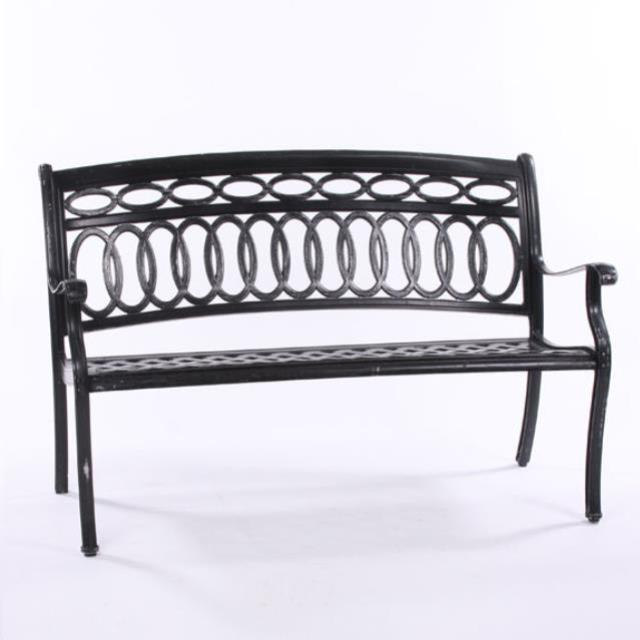 Where to find WROUGHT IRON CHAIR BENCH in Houston
