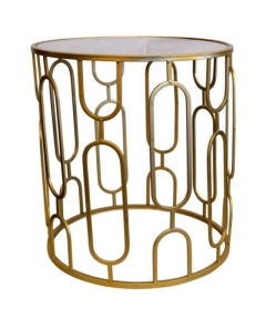 Rental store for LOUNGE - END TABLE GOLD MIRROR in Houston TX