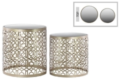 Rental store for LOUNGE - END TABLE LATTICE MIRROR SILVER in Houston TX