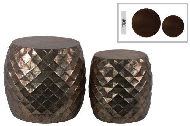 Where to find LOUNGE - END TABLE LATTICE BROWN in Houston